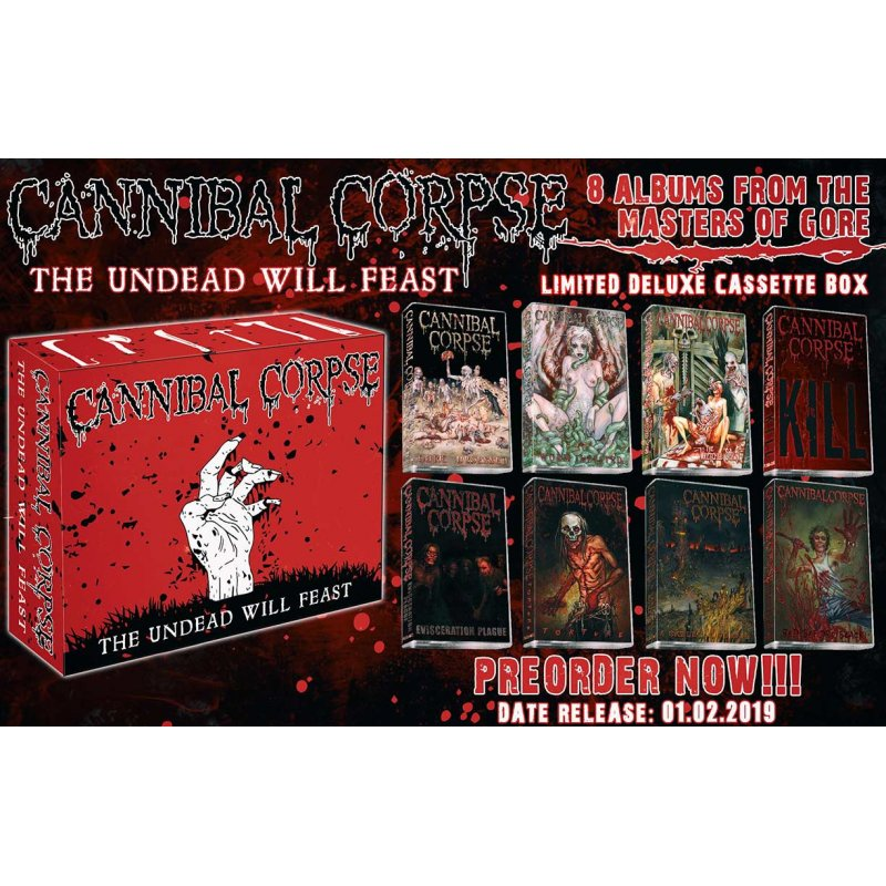 2ff3f392c6d CANNIBAL CORPSE -- The Undead Will Feast 8 TAPE BOX