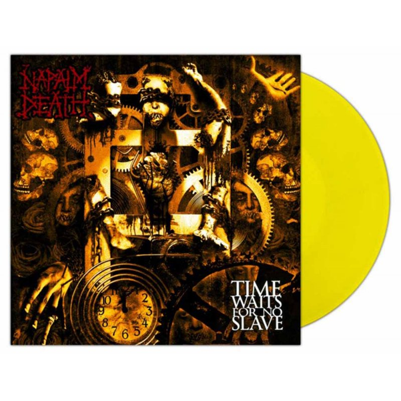 Napalm Death Time Waits For No Slave Lp Yellow 16 99